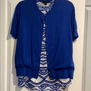 Ann Taylor sleeveless blouse w/ss sweater